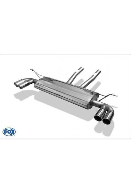 FOX Endschalldämpfer für VW Touareg Typ 7L Duplex Ausgang rechts/links - 2x80 Typ 25 - (Rohrdurchmesser: 70mm)