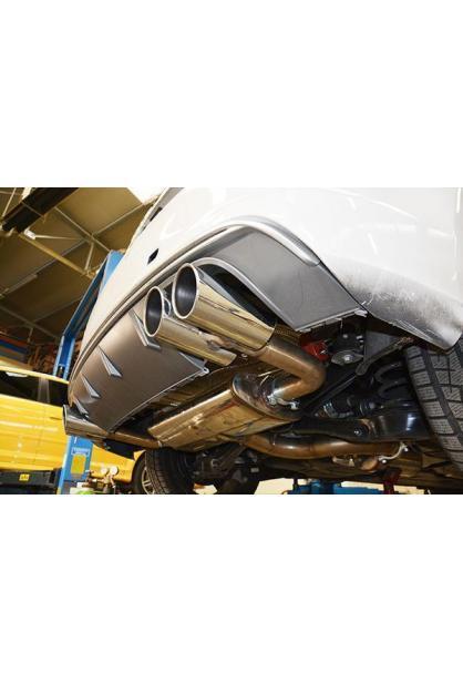 Supersprint Sportauspuff duplex Endschalldämpfer für VW Golf VII R 2.0 TFSI ab Bj.14 Endrohre je 2x90
