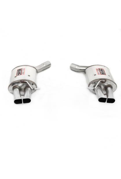 Supersprint Sportauspuff duplex Endschalldämpfer für Audi S6 RS6 S7 und RS7 ab Bj.12 für Serienendrohre