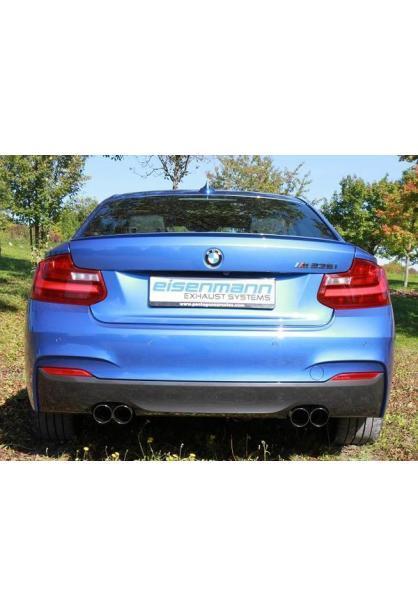 Eisenmann Sportauspuff duplex Racinganlage ab Kat. für BMW 2er Coupe M235i Endrohre je 2x76mm