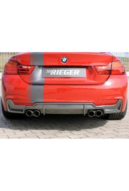 Rieger Heckansatz BMW 4er Coupe Cabrio Grand Coupe F32 F33 F36 Carbon Look für re/li 2x80mm