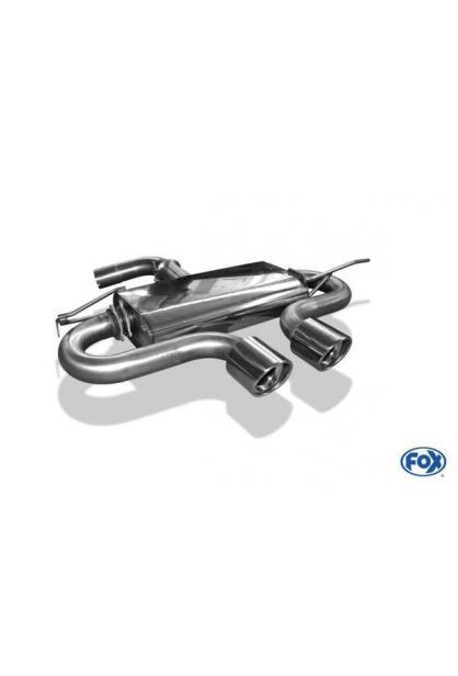 FOX Sportauspuff Endschalldämpfer VW Golf V R32-Design 2x100mm Typ 17