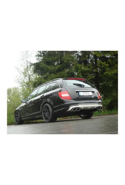 FOX Sportauspuff Racing Komplettanlage für Mercedes C-Klasse W204 S204 C200K 2x115x85mm