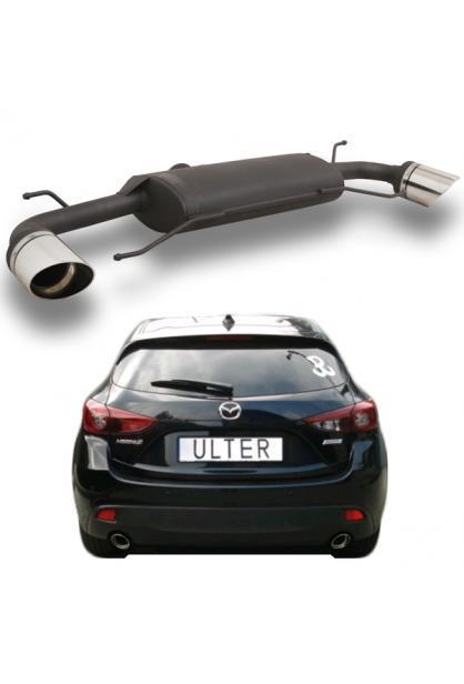 Ulter Duplex Sportauspuff 1 x 100mm abgeschrägt rechts-links - Mazda 3 BM/BN Bj. 2013-19 2.0l