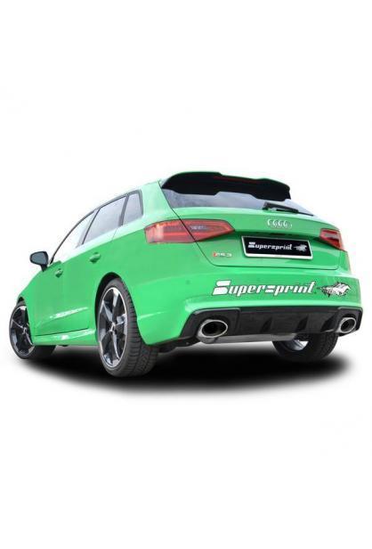 Supersprint ESD mit Klappe re/li 145x95 für Audi RS3 Sportback 8VA Quattro 2.5l TFSI