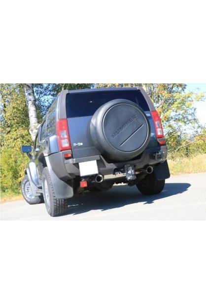 FOX Duplex Sportauspuff Endschalldämpfer 1x100mm rund Hummer H3 5.3 V8 AWD