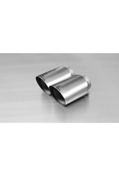 REMUS Endrohr-Set 2x115mm, schräg, poliert, mit einstellbarem Kugelanschluss