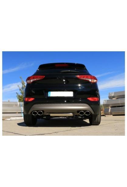 FOX Duplex Endschalldämpfer 2x115x85mm Hyundai Tucson Benzin 1.6 T-GDI Allrad ab Bj. 2015