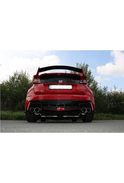 FOX Duplex Sportauspuff Komplettanlage ab Kat. Honda Civic IX Type R 2.0l re/li je 2x90mm Typ12