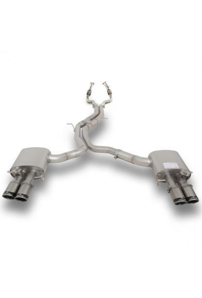 Remus Duplex Racinganlage inkl. Kat.-Ersatz AUDI RS5 Quattro mit integr. Klappen je 2x84mm Carbon Race