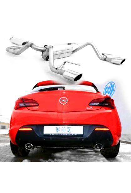 FOX Sportauspuff Komplettanlage ab Kat. Opel Astra J GTC  re/li je 115x85mm Typ 32