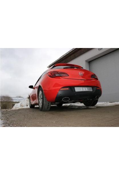 FOX Duplex Sportauspuff Racing Komplettanlage ab Kat. Opel Astra J GTC Ausgang re/li je 160x80mm