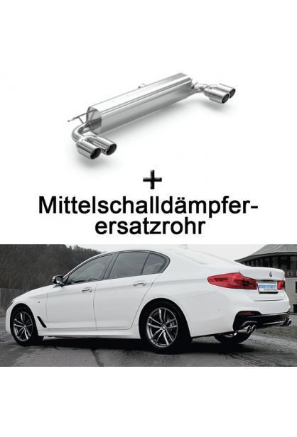 Eisenmann Duplex Racinganlage ab Kat. BMW G30 G31 530i inkl. xDrive re/li je 2x90mm