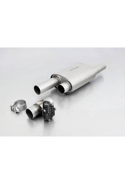 REMUS Universal Sportschalldämpfer mit integrierten elektrischen Klappen 30-200 kW 2x84mm