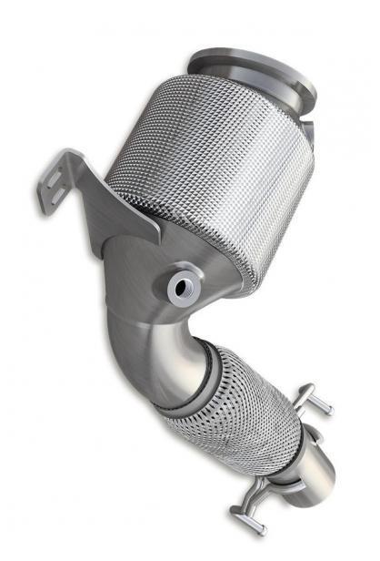 HJS Edelstahl Downpipe mit Kat Mini Cooper S JCW F54 F55 F56 F57 F60