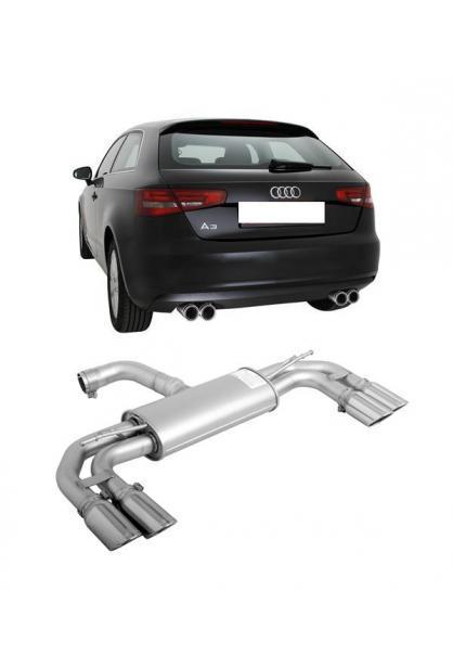 REMUS Sportauspuff Duplex Audi A3 8V 1.6l TDI inkl. Sportback re/li je 2x84mm schräg