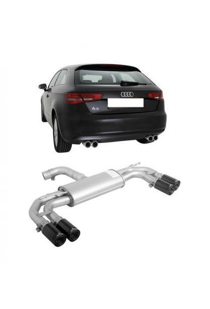 REMUS Sportauspuff duplex Audi A3 8V 1.6l TDI inkl. Sportback re/li je 2x84mm Street Race Black
