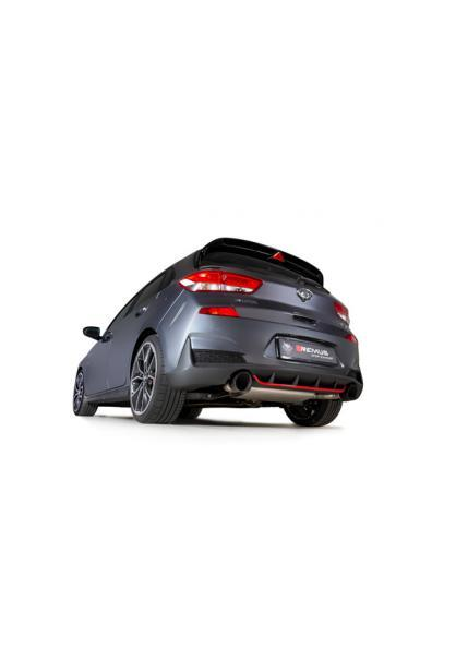 REMUS Duplex Klappen Racinganlage ab Kat. OPF Hyundai i30 Fastback N Typ PD je 1x115mm Black Chrome