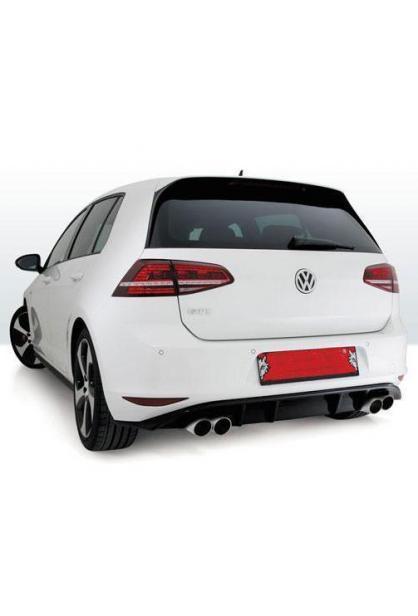 REMUS Duplex Sportauspuff VW Golf 7 Typ AU rechts links je 2 x 84mm verchromt schräg