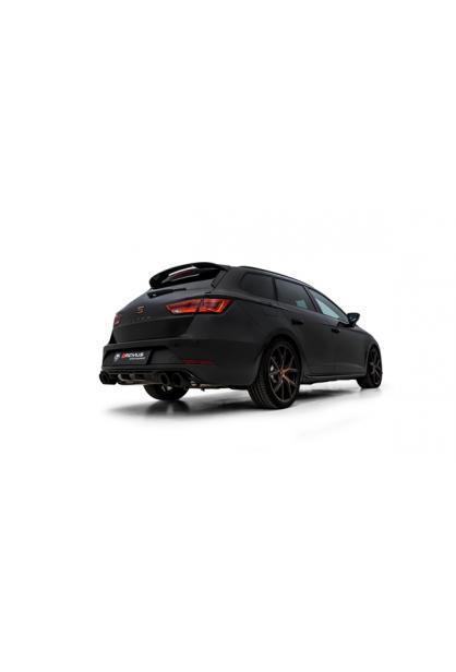Remus Duplex Sportauspuff Anlage ab Kat. Seat Leon Typ 5F Cupra ST 4drive ab Bj. 2019 je 2x102mm Carbon