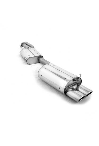 Fox Sportauspuff Komplettanlage ab Kat. Mercedes SL Typ R129 2x115x85mm kein Flansch!