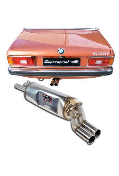 Supersprint Sportauspuff Endschalldämpfer Modelle mit Austritt links für BMW E24 und E12
