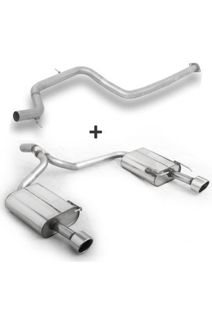 FOX Duplex Racinganlage ab Kat. Ford Mondeo IV Fließheck 2.5l rechts links je 1x100mm