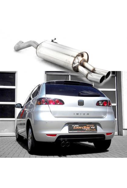 BASTUCK Sportauspuff Seat Ibiza 6L u. Skoda Fabia 1 Typ 6Y 1.0l  1.2l  1.4l  1.6l  2.0l u. Diesel 2 x 70mm (AnschlussØ 63mm)