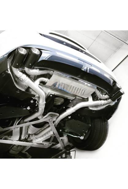 Eisenmann Klappen Racinganlage ab Kat. BMW G20 G21 3er M340i inkl. xDrive re li je 2x90mm gerade Chrom-Carbon