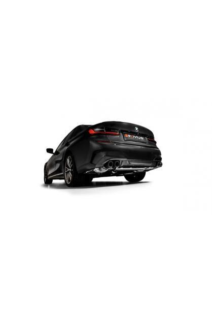 Remus Duplex Klappen Sportauspuff BMW M340i xDrive G20 G21 OPF re li je 2x84mm verchromt