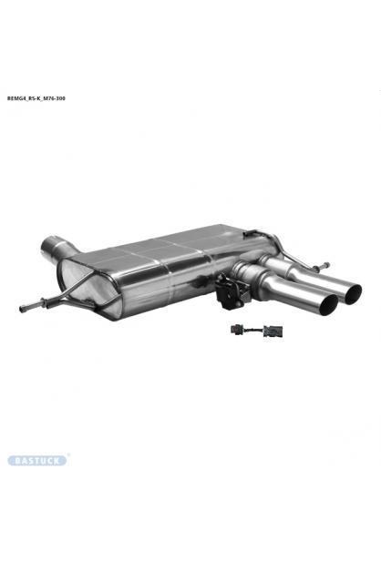 Bastuck Klappen Komplettanlage ab Kat. ohne OPF Renault Megan 4 RS 1.8l 221kW 2x76mm