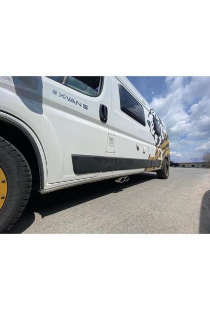 FOX Wohnmobil Endrohr für Fiat Ducato Ausgang zur Fahrerseite 2x115x85mm