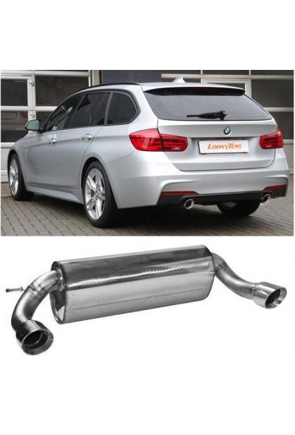 Bastuck Duplex Sportauspuff BMW 3er F30 Limo F31 Touring 335xd je 1x90mm schräg