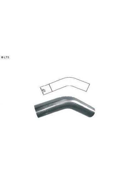 Edelstahl Uni-Rohrbogen 45° ungeweitet d1 Ø 45mm Radius: 75mm
