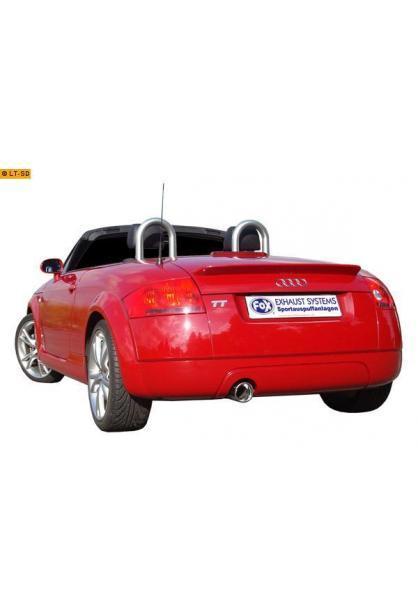 FOX Sportauspuff Endschalldämpfer Edelstahl für Audi TT Typ 8N mit 1 x 100mm Typ 17