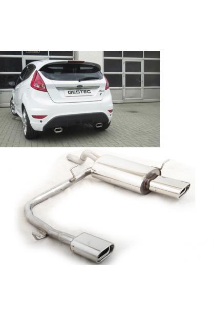 GESTEC Sportauspuff Endschalldämpfer 135x80mm duplex Ford Fiesta MK7 ab 08