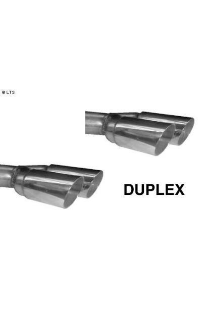 Ford Cougar 2.0l  2.5l  BASTUCK Duplex Sportauspuff (inkl. Mittelschalldämpfer-Ersatzrohr) rechts links je 2 x 76mm (AnschlussØ 63mm) RACING
