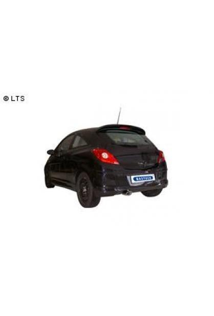 BASTUCK Sportauspuff inkl. Zubehör Opel Corsa D ab Bj. 06  1.6l GSI  120x80mm oval mit Einsatz (RohrØ 70mm)