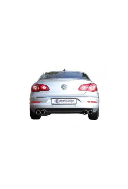 FOX Duplex Sportauspuff Endschalldämpfer Edelstahl für VW Passat 3C mit je 2x90mm Typ13 re/li