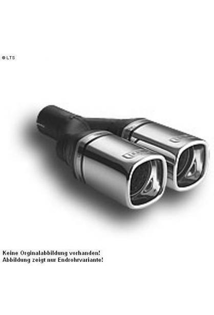 Ulter Sportauspuff 2 x 80x65mm eingerollt - Audi A4 B5 Limousine und Avant ab Bj. 94 bis 01 1.6l bis 1.8T und 1.9 TDI