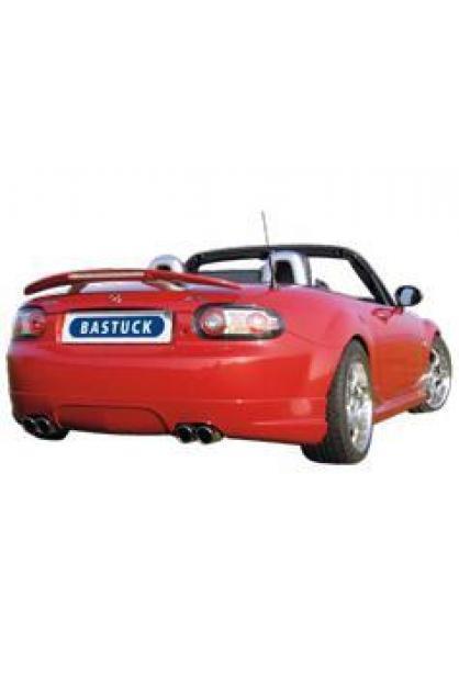 Mazda MX5 Typ NC ab Bj. 05 inkl. Facelift ab Bj. 09 1.8l  2.0l  BASTUCK Sportauspuff rechts links je 2 x 76mm eingerollt schräg (AnschlussØ 63mm)