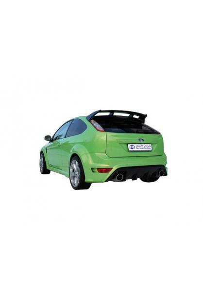 Ford Focus 2 RS ab Bj. 09 2.5l FOX RACING Komplettanlage ab Kat. rechts links je 1 x 129x106mm oval (RohrØ 63.5mm)