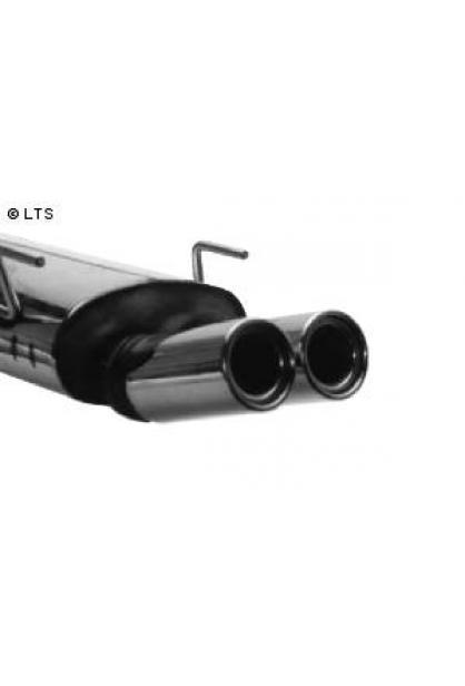 Opel Vectra B inkl. Caravan ab Bj. 95 1.6l  1.8l  2.0l  2.2l  2.5l  2.6l  u. Diesel  BASTUCK RACING Komplettanlage ab Kat. 2 x 90mm mit Einsatz (AnschlussØ 63mm)