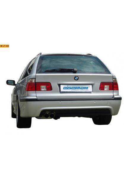 EISENMANN Sportauspuff Endschalldämpfer Edelstahl BMW E39 Touring mit M-Technik Heckschürze bis Bj. 98 - 2 x 76mm gerade poliert - RACE-Version