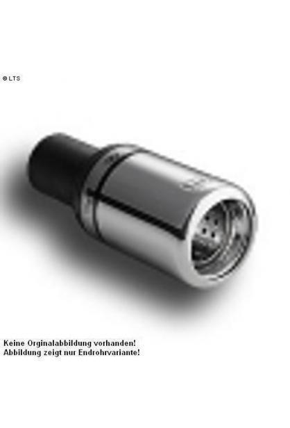 Ulter Sportauspuff 1 x 80mm eingerollt -VW Golf II ab 85 bis 92 1.8l bis 1.8l GTI
