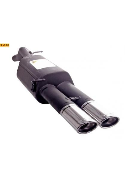 Ulter Sportauspuff 2 x 95x65mm eingerollt -VW Bora Limousine und Variant ab 99 1.4l bis 2.0l und 1.9 SDI bis 1.9 TDI