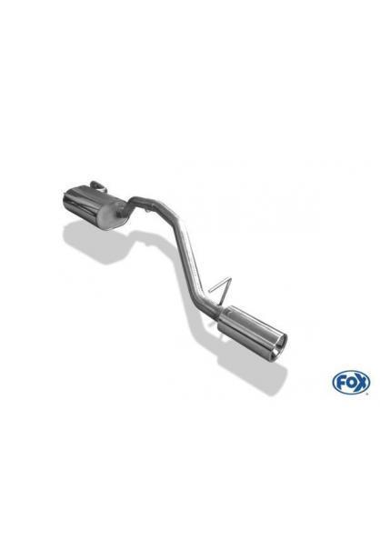 Ford Focus 2 Facelift Fließheck ab Bj. 08 1.4l  1.6l  1.8l  2.0l FOX Sportauspuff 1 x 90mm eingerollt gerade (RohrØ 50mm)