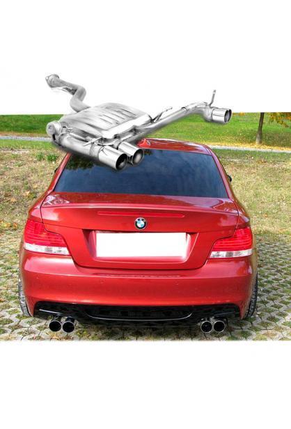 BMW 1er E88 Cabrio u. E82 Coupe 135i  EISENMANN Sportauspuff rechts links je 2 x 76mm