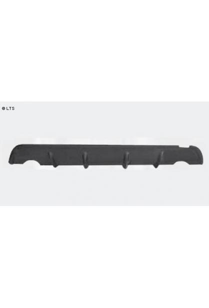 BASTUCK Heckschürzen-Ansatz Chevrolet Cruze ab Bj. 09 1.6l  1.8l  2.0l Diesel - lackierfähig mit Ausschnitt für Einfach-Endrohr rechts links