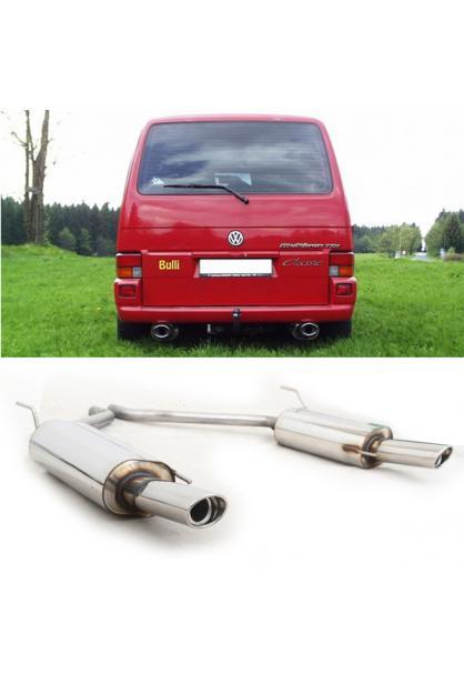 FOX Sportauspuff VW Bus T4  1.9l  2.0l  2.5l  2.8l  1.9l D 1.9l TD 2.4l D 2.5l TDI - rechts links je 115x85mm oval (RohrØ 2x50mm)